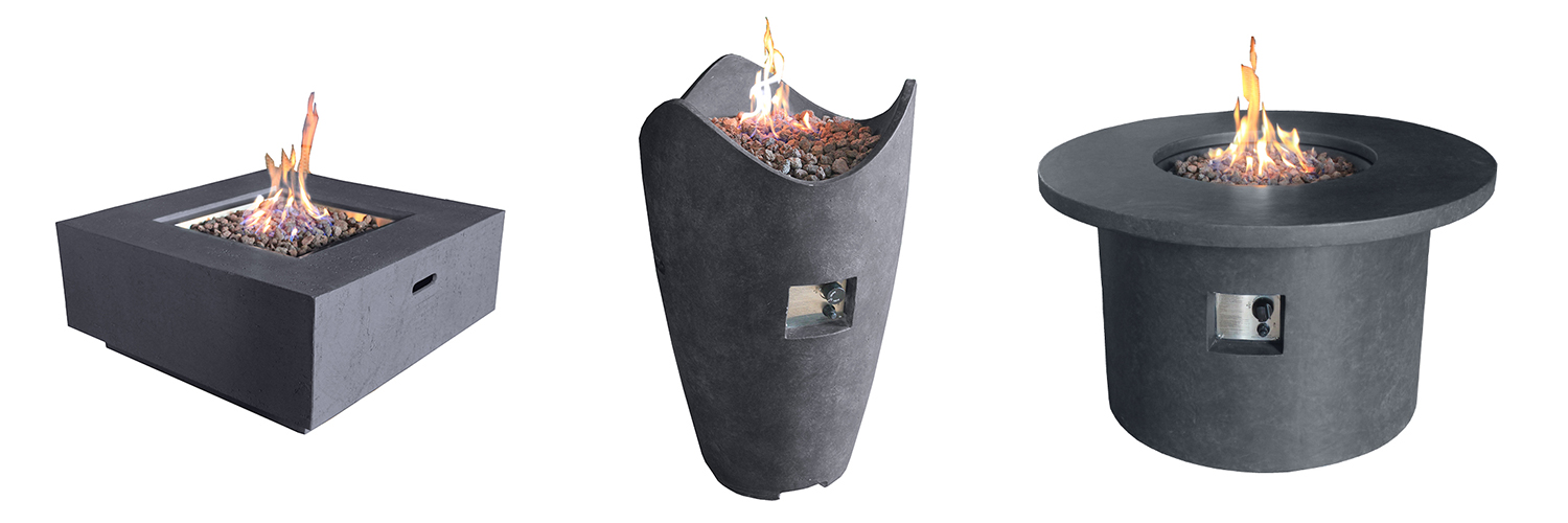 Fire Pit Coffee Tables & Vases