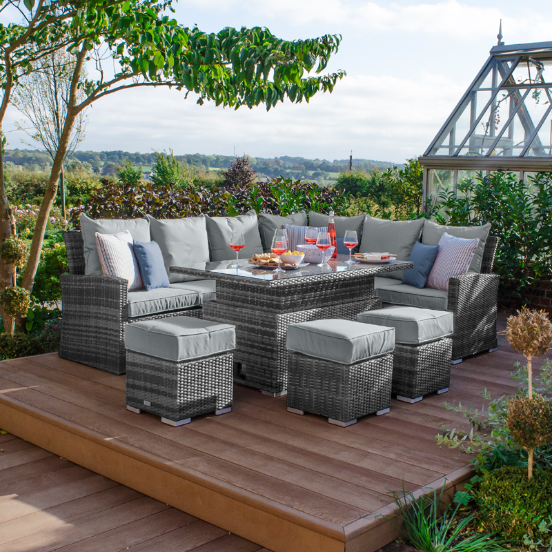 Grey Rattan Garden Furniture