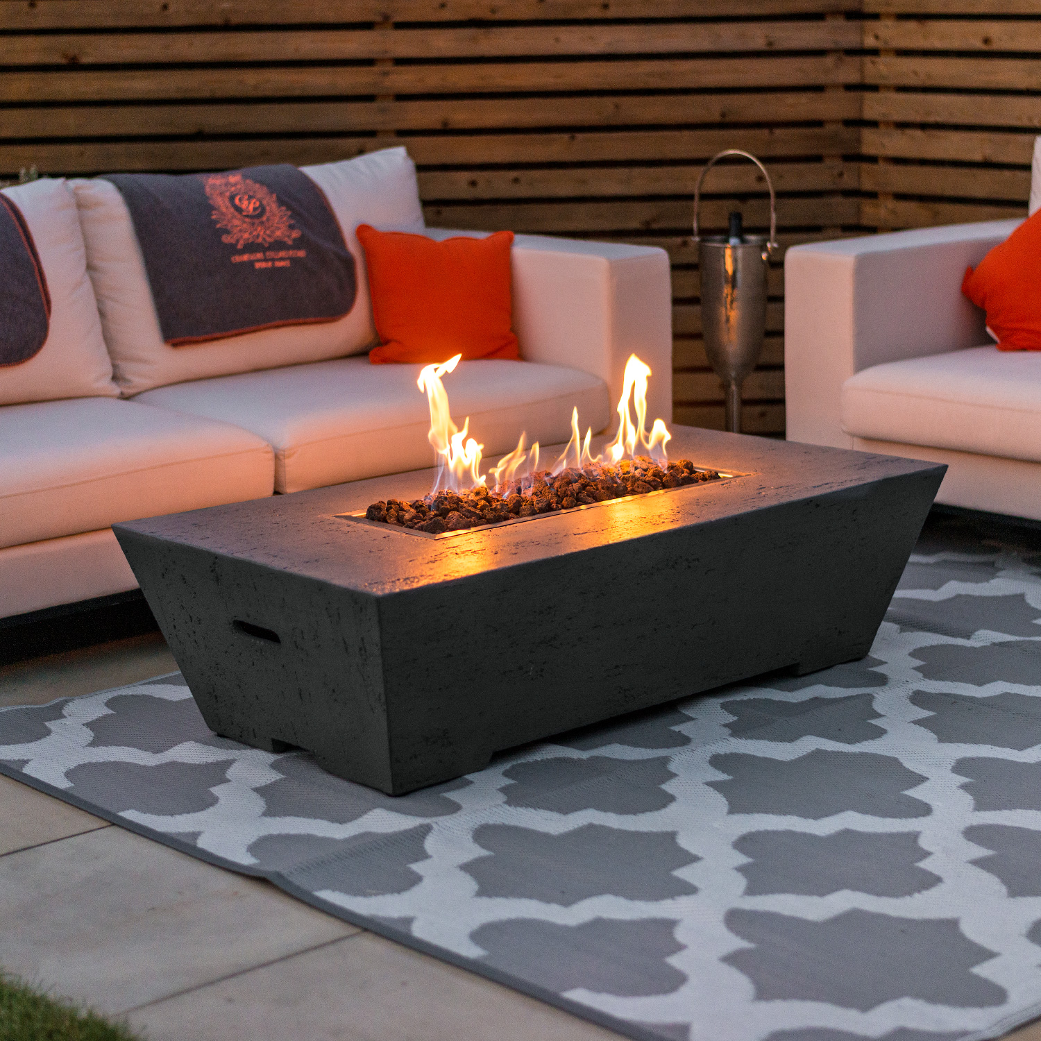 Gas Firepit Coffee Table