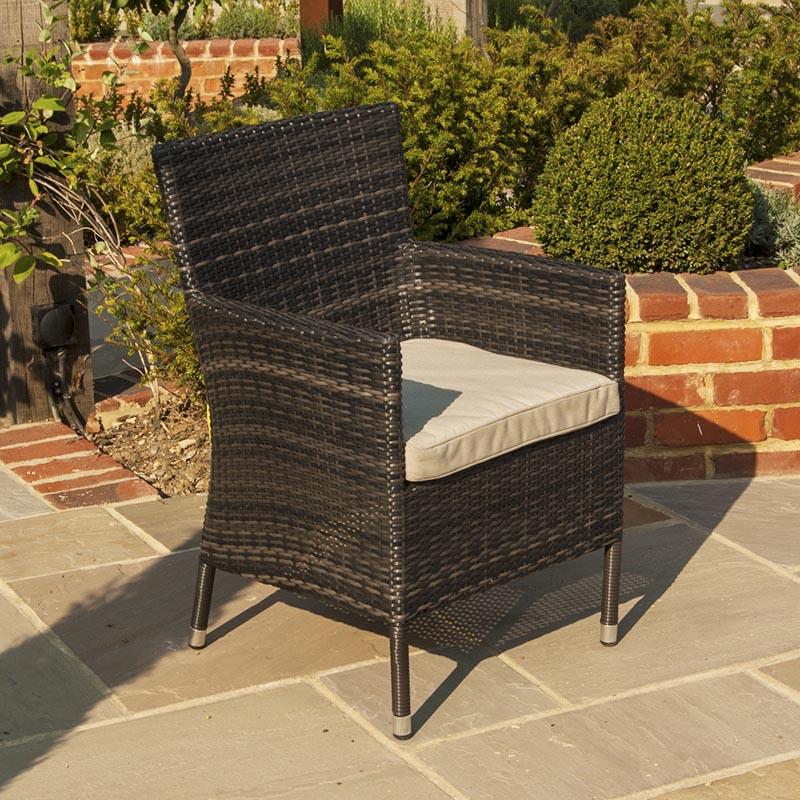 Maze Rattan Outdoor Garden Furniture Baby La 10 Seat 1.8m Round ...