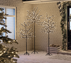 Artificial LED Blossom Christmas Trees