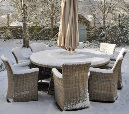Can I Leave Rattan Furniture Outside In Winter White