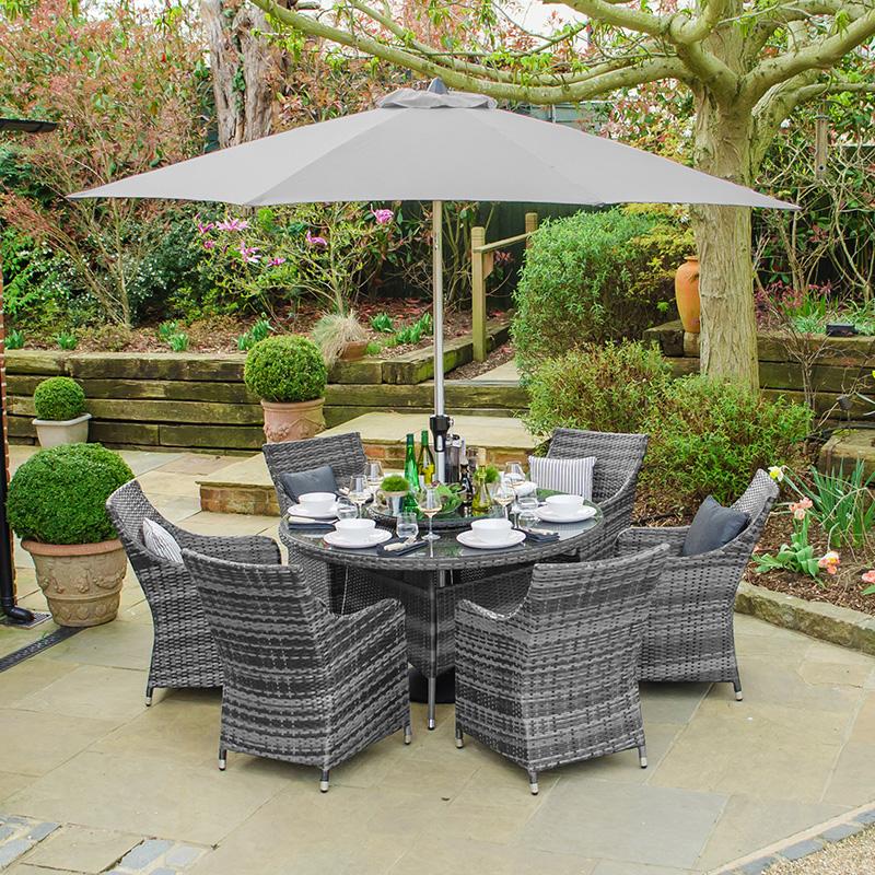 Grey Rattan Garden Furniture Best, Grey Rattan Patio Furniture Set
