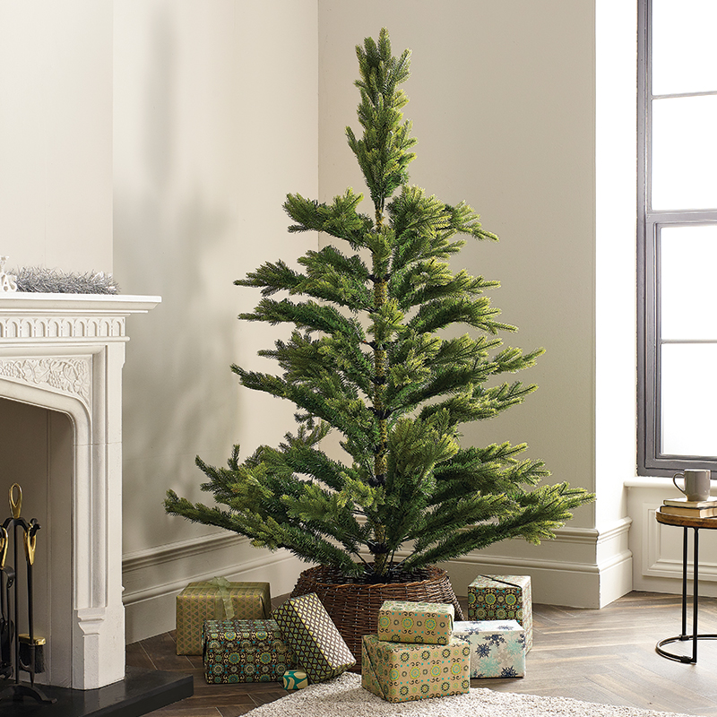 Non-Fluffed Artificial Christmas Tree